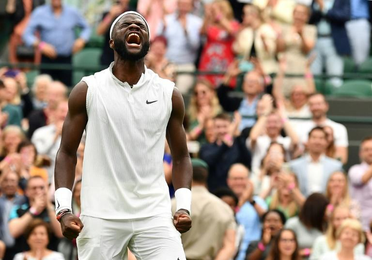 Frances Tiafoe celebration on beating Wimbledon third seed Stefanos Tsitsipas eating out of a bowl as he said he needs wins like that to have the steak dinners he loves