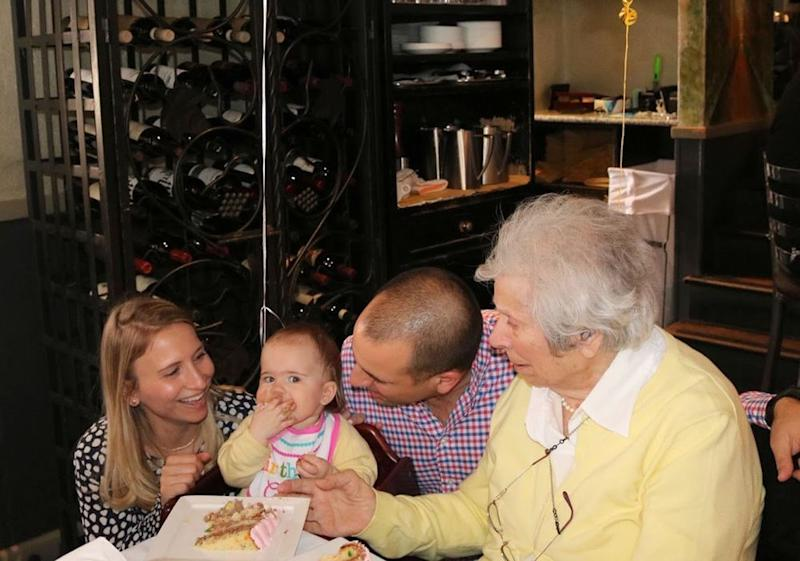 Diane and Will Collingham with their daughter, Ella, and great-grandmother, Raffaela Eckenberger | Courtesy Diane Collingham
