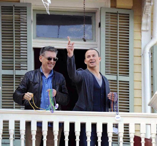 "Craig Ferguson and Channing Tatum ""If you hang out with Channing Tatum & have beads you can see wonderful things in New Orleans #alsoscareythings"" Lucky Craig! We couldn't think of a better tour guide to the Big Easy!"