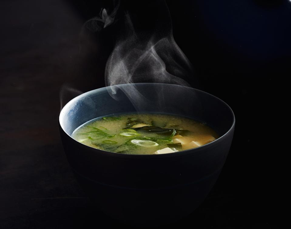 "Just like the miso soup you get in restaurants, and we mean that in a good way. <a href=""https://www.bonappetit.com/recipe/elemental-miso-soup?mbid=synd_yahoo_rss"" rel=""nofollow noopener"" target=""_blank"" data-ylk=""slk:See recipe."" class=""link rapid-noclick-resp"">See recipe.</a>"