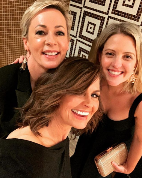 Lisa with Amanda and author Georgie Dent in November 2019. Photo: Instagram/lisa_wilkinson.