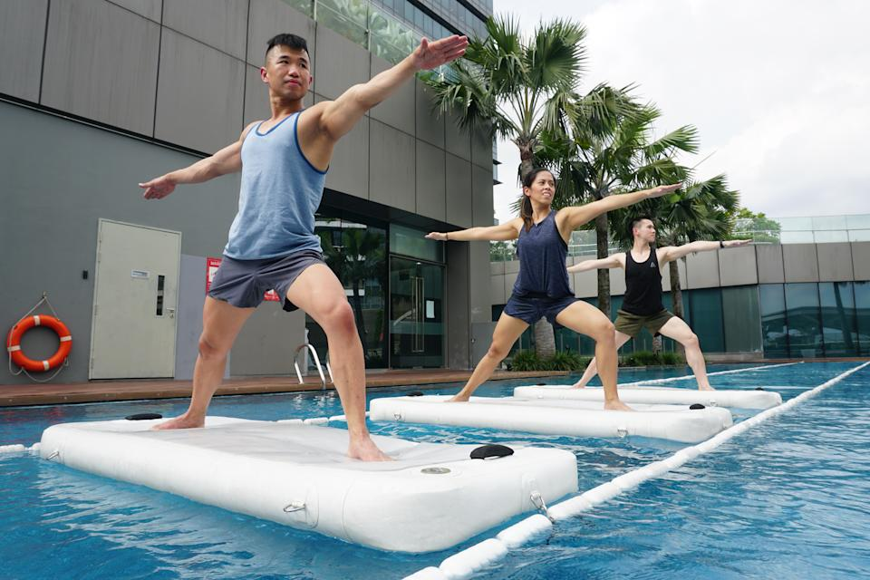 Fitness First H2O Flow workout. (PHOTO: Fitness First Singapore)