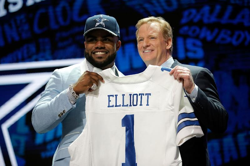 f65d5f888b0 Ezekiel Elliott headed the sales list of all NFL player licensed  merchandise from March of 2016