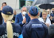 EU Council President Charles Michel also visited the border earlier this month