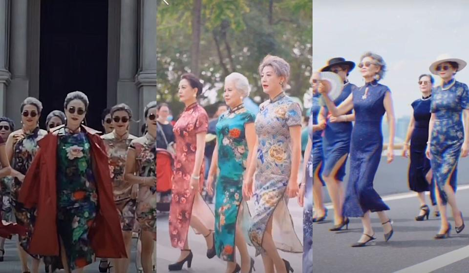 Douyin channel, Fashion Grandmas, featuring Chinese grandmas that dress gracefully in traditional Chinese outfits such as cheongsams. Photo: Handout