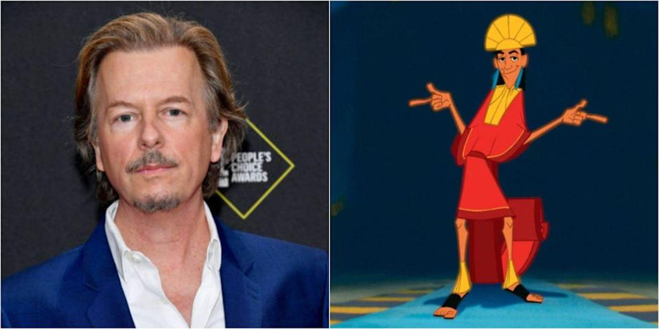 <p>While you likely know Patrick Warburton voiced Kronk, did you know David Spade lent his voice to the human and llama version of Kuzco? The actor and comedian clearly nailed it.</p>