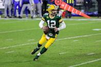 """<p>February was a big month for the Green Bay Packers quarterback. Not only was he awarded the MVP award during the NFL Honors ceremony, but he also candidly announced that he was engaged! """"<a href=""""https://twitter.com/packers/status/1358265314283302914"""" class=""""link rapid-noclick-resp"""" rel=""""nofollow noopener"""" target=""""_blank"""" data-ylk=""""slk:2020 was definitely a crazy year"""">2020 was definitely a crazy year</a> filled with lots of change, growth, some amazing, <a href=""""http://packerswire.usatoday.com/2021/02/06/watch-aaron-rodgers-mvp-acceptance-speech/"""" class=""""link rapid-noclick-resp"""" rel=""""nofollow noopener"""" target=""""_blank"""" data-ylk=""""slk:memorable moments"""">memorable moments</a>, 180 straight days of having my nose hair scraped, playing for very little fans or no fans the entire season, I got engaged, and I played some of the best football of my career,"""" he said during his acceptance speech. In closing, Rodgers publicly thanked his close-knit support system, which included his fiancée, though he didn't call her out by name. </p>"""