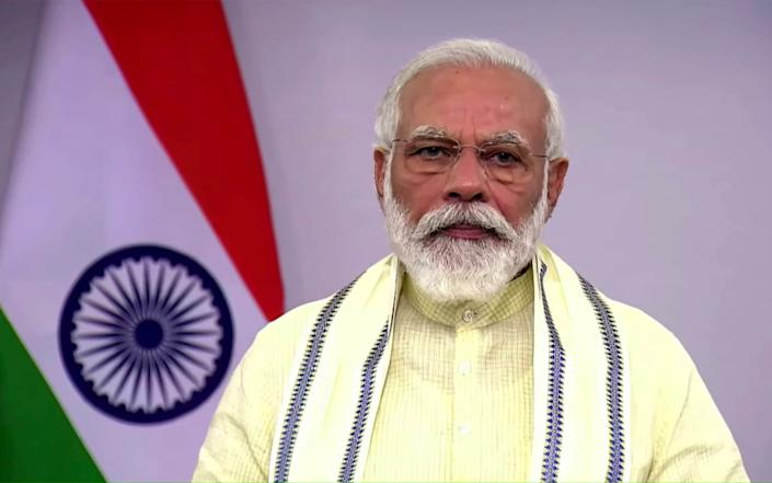 Indian Prime Minister Narendra Modi has pursued Hindu nationalist policies since coming to power in 2014 - narendermodi.in/narendermodi.in