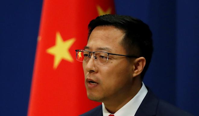 """""""It is Pompeo's day-to-day work to lie about China,"""" Chinese Foreign Ministry spokesman Zhao Lijian said last week. Photo: Reuters"""