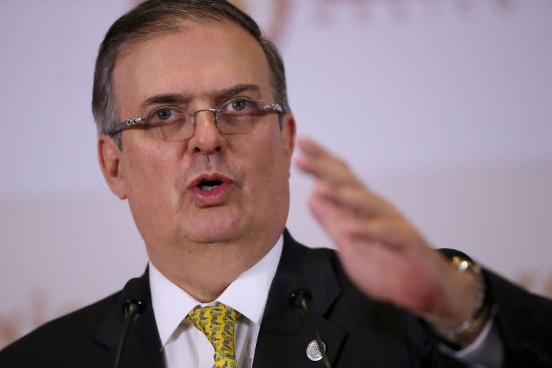 FILE PHOTO: Mexico's foreign minister, Ebrard, speaks in Mexico City