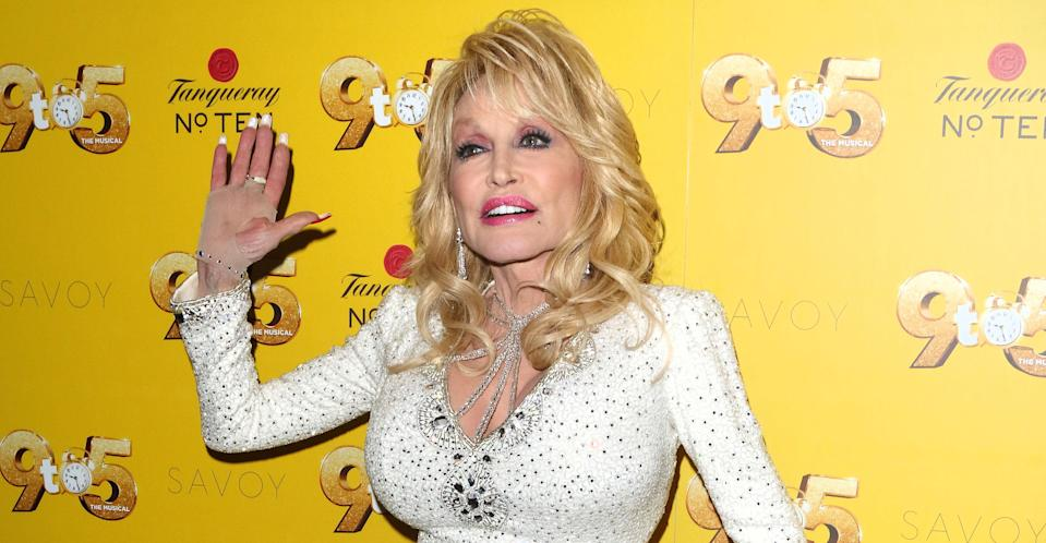 Dolly Parton at the London premiere of her 9 to 5 musical. (PA Images)