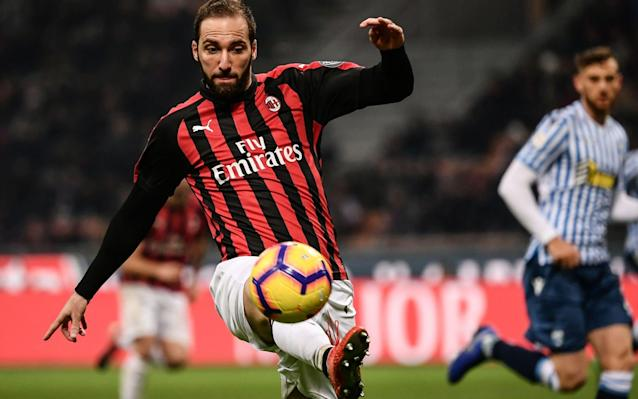 Gonzalo Higuain will not feature against Spurs - AFP