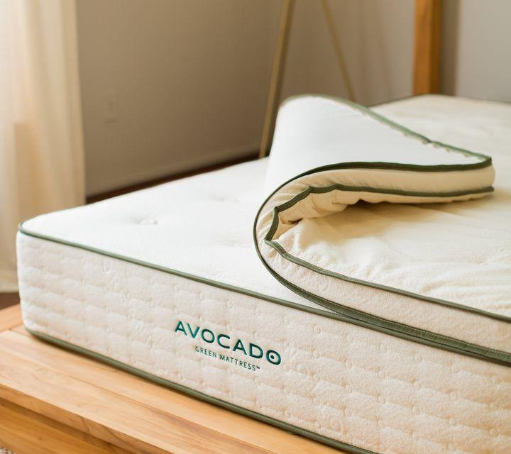 "<p><strong>Avocado Green Mattress</strong></p><p>avocadogreenmattress.com</p><p><strong>$349.00</strong></p><p><a href=""https://go.redirectingat.com?id=74968X1596630&url=https%3A%2F%2Fwww.avocadogreenmattress.com%2Fshop%2Fmattress-topper&sref=https%3A%2F%2Fwww.cosmopolitan.com%2Flifestyle%2Fg33341948%2Fbest-mattress-toppers%2F"" rel=""nofollow noopener"" target=""_blank"" data-ylk=""slk:Shop Now"" class=""link rapid-noclick-resp"">Shop Now</a></p><p>Natural materials like organic cotton, latex, and wool are used in this cozy topper. You can choose between firm and soft ones as well for any size bed you have. </p>"