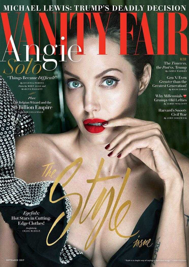 Angelina Jolie covers the new issue of Vanity Fair. (Photo: Mert Alas & Marcus Piggott exclusively for Vanity Fair)