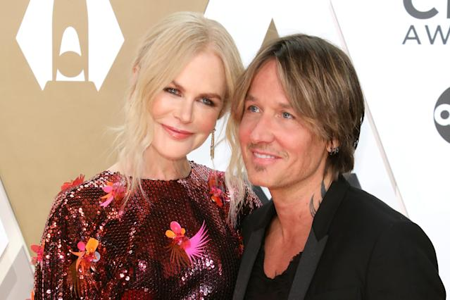 Nicole Kidman and Keith Urban attend the 53nd annual CMA Awards at Bridgestone Arena on November 13, 2019 in Nashville, Tennessee. (Photo by Taylor Hill/Getty Images)