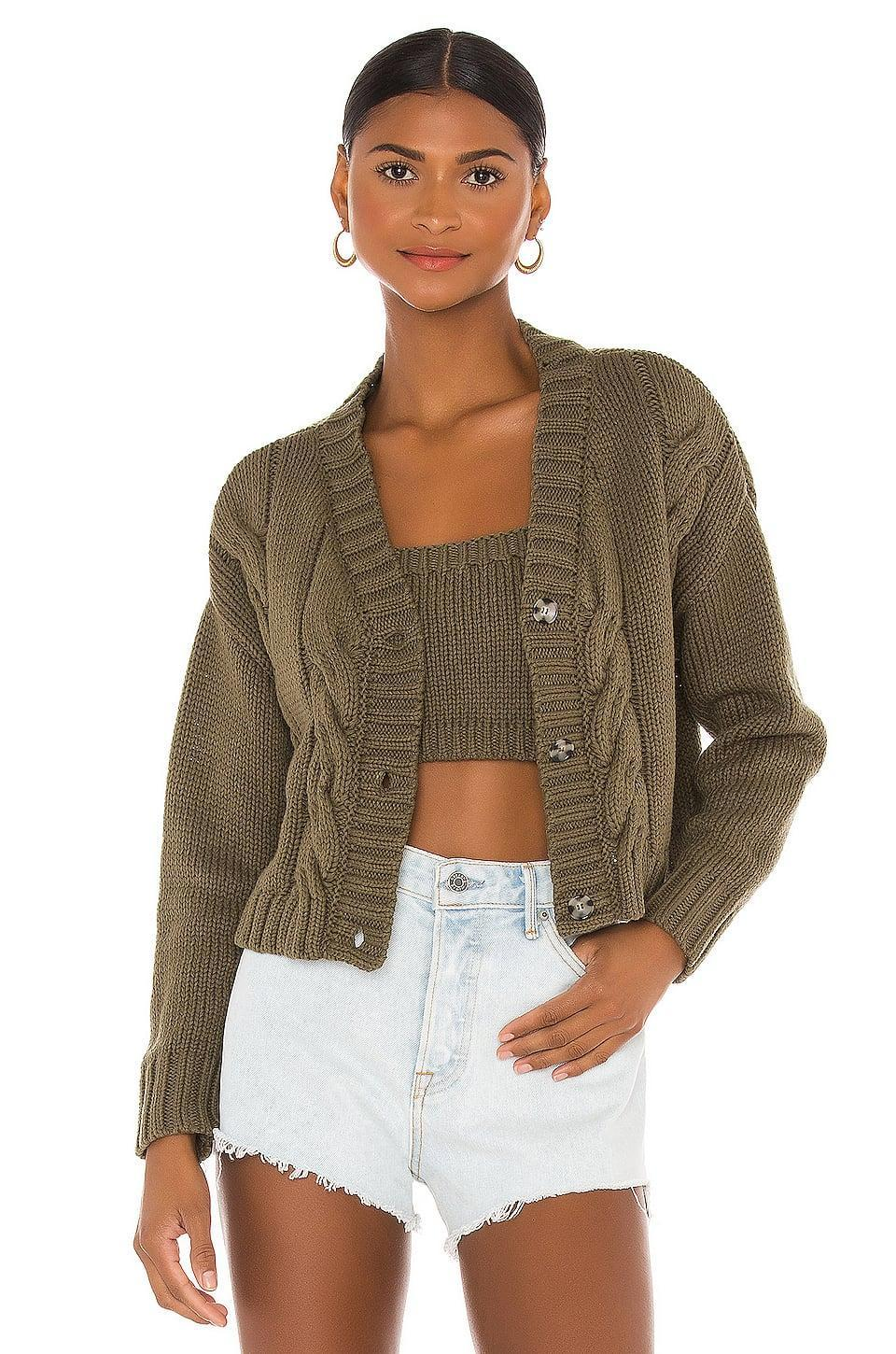 <p>This <span>Callahan x Revolve Cardigan Set</span> ($132) also comes in a more sandy neutral shade and a rust color.</p>
