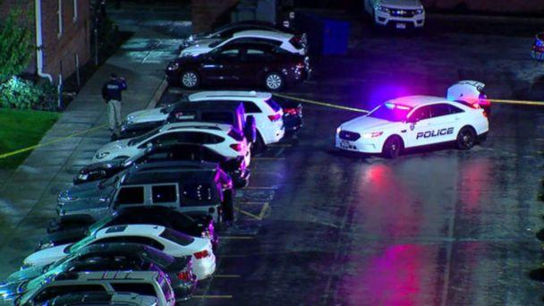 PHOTO: Police investigate a fatal shooing at the University of Utah on Tuesday, Oct. 22, 2018. (KTVX)