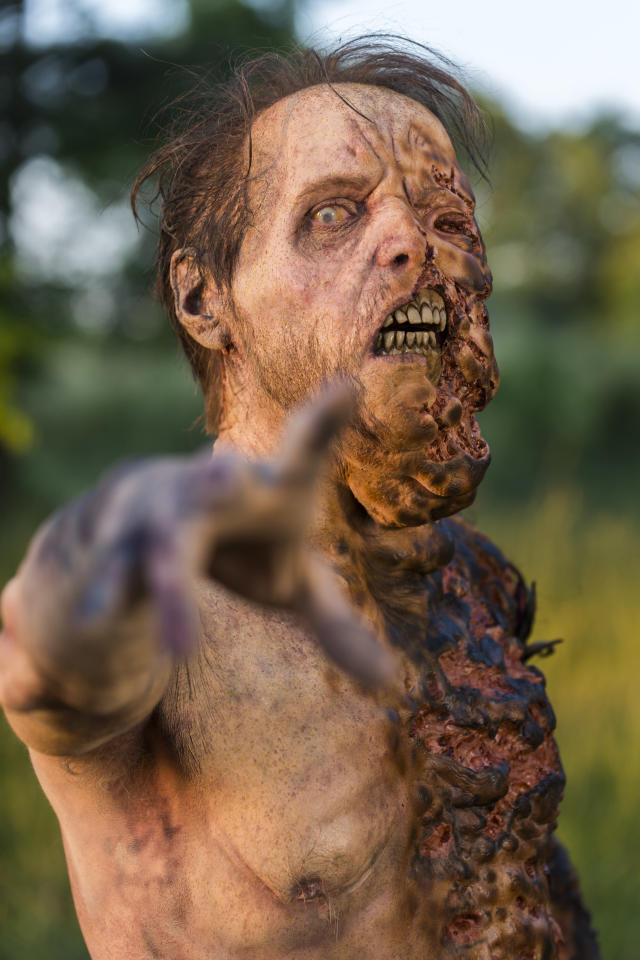 <p>A Walker in AMC's <i>The Walking Dead</i>.<br>(Photo: Gene Page/AMC) </p>