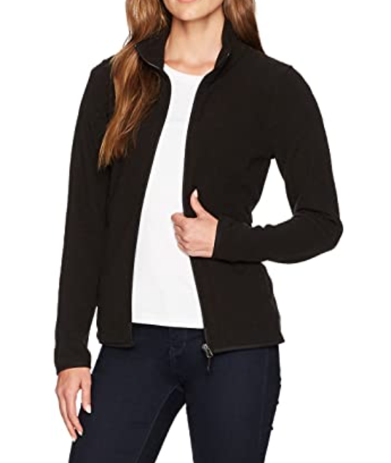 Amazon Essentials Women's Full-Zip Polar Fleece Jacket in Black