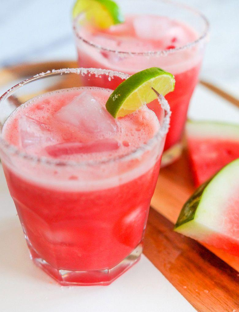 """<p>Blended watermelon juice gets a fancy touch with a pink Himalayan salt rim.</p><p><strong><a href=""""https://thepioneerwoman.com/food-and-friends/watermelon-margarita-mocktails/"""" rel=""""nofollow noopener"""" target=""""_blank"""" data-ylk=""""slk:Get the recipe."""" class=""""link rapid-noclick-resp"""">Get the recipe.</a></strong></p><p><strong><a class=""""link rapid-noclick-resp"""" href=""""https://go.redirectingat.com?id=74968X1596630&url=https%3A%2F%2Fwww.walmart.com%2Fip%2FInstant-Pot-Ace-60-Cooking-Blender%2F626991948&sref=https%3A%2F%2Fwww.thepioneerwoman.com%2Ffood-cooking%2Fmeals-menus%2Fg32147587%2Fwatermelon-drink-recipes%2F"""" rel=""""nofollow noopener"""" target=""""_blank"""" data-ylk=""""slk:SHOP BLENDERS"""">SHOP BLENDERS</a><br></strong></p>"""