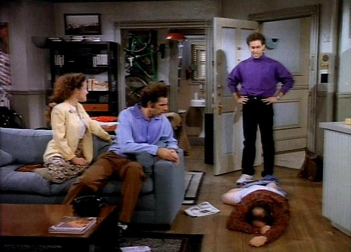 """The Boyfriend"" - While performing his comedy act, Jerry meets Keith Hernandez (as himself), the former New York Mets All-Star and one of Jerry's favorite baseball players. But Jerry finds himself competing for his new pal's time with Elaine, who has caught Keith's eye. And shameless George will do anything to extend his unemployment benefits, including dating a bureaucrat's plain-looking daughter."