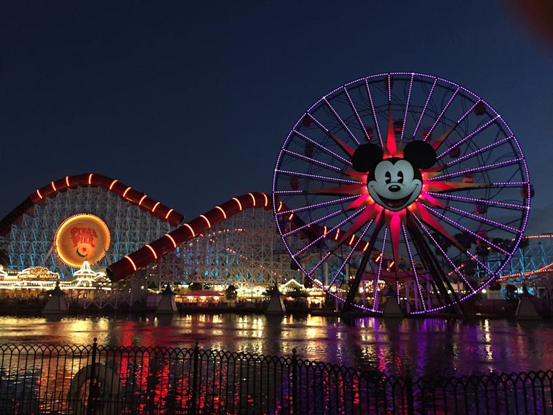 Disney's Pixar Pier at Night, June 2018.