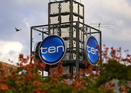 The logo of Network Ten Pty Ltd which is displayed above the company's headquarters in Sydney, Australia