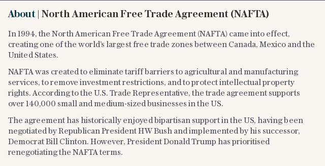 About | North American Free Trade Agreement (NAFTA)