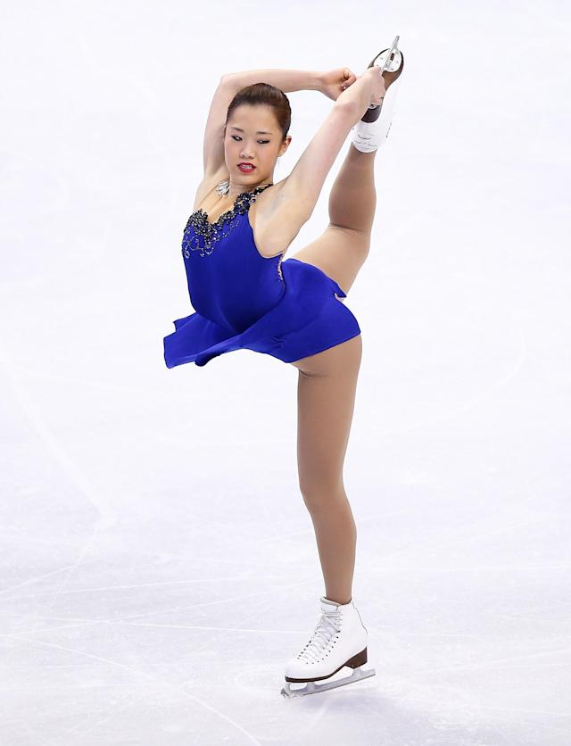 BOSTON, MA - JANUARY 11: Angela Wang competes in the free skate program during the 2014 Prudential U.S. Figure Skating Championships at TD Garden on January 11, 2014 in Boston, Massachusetts. (Photo by Jared Wickerham/Getty Images)