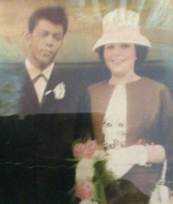 <em>The couple, pictured here on their wedding day, were married for 55 years (PA)</em>