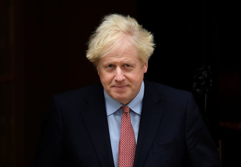 Britain's Prime Minister Boris Johnson leaves Downing Street