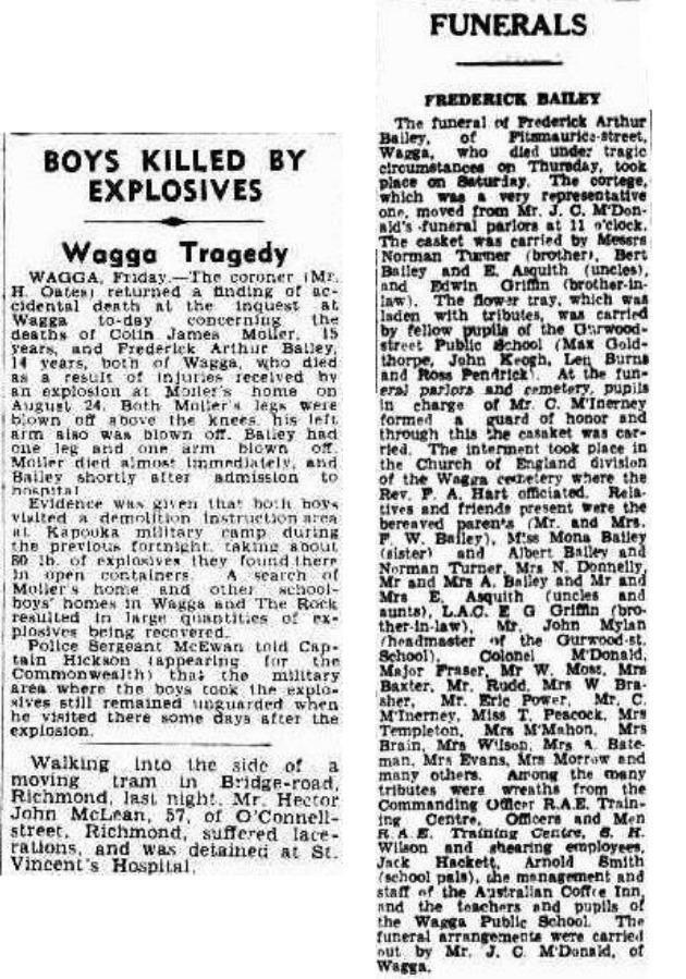 The Daily Advertiser records revealed Nicholas' ghost friend is actually Frederick Bailey who died playing with explosives. Source: Supplied