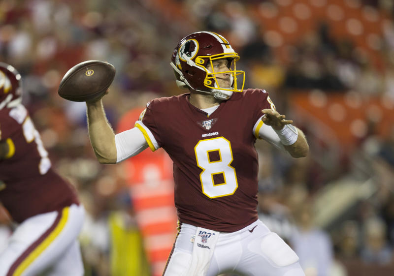 Keenum on track to be Redskins' Week 1 starting QB