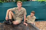 <p>Terri Irwin and son Robert celebrate his 17th birthday at the Australia Zoo on Tuesday in Brisbane. </p>