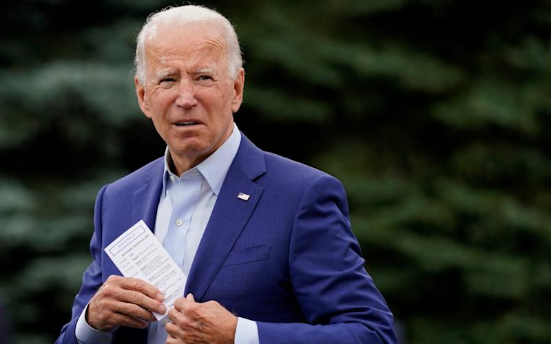 Joe Biden, the Democratic presidential candidate, and an Irish American, is a strong supporter of the Good Friday Agreement, which requires an open border and of which the US is the guarantor - Patrick Semansky/AP