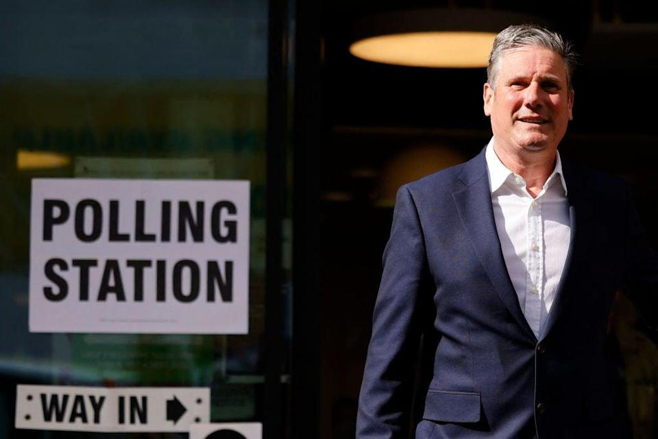 <p>Labour party leader Keir Starmer suffered a humiliating defeat in Hartlepool in the by-elections</p> (AFP via Getty Images)