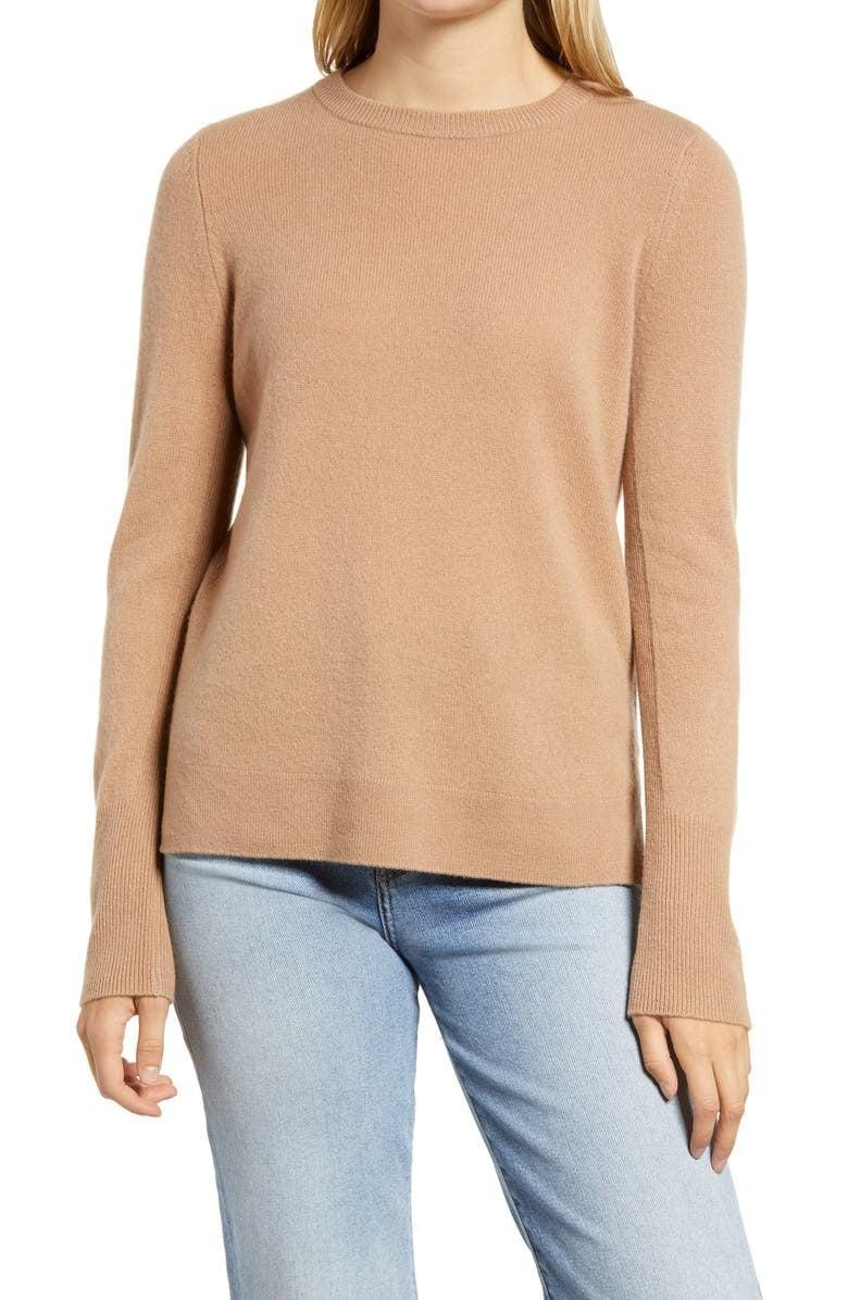 <p>This comfy <span>Halogen Crewneck Cashmere Sweater</span> ($58, originally $98) is soft and comes in so many color choices.</p>