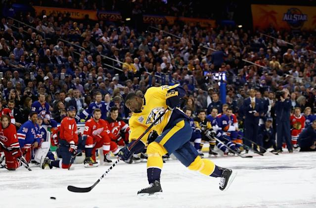 Canadian defenceman PK Subban was traded by the Nashville Predators to the New Jersey Devils for two players and a couple of draft picks (AFP Photo/BRUCE BENNETT)