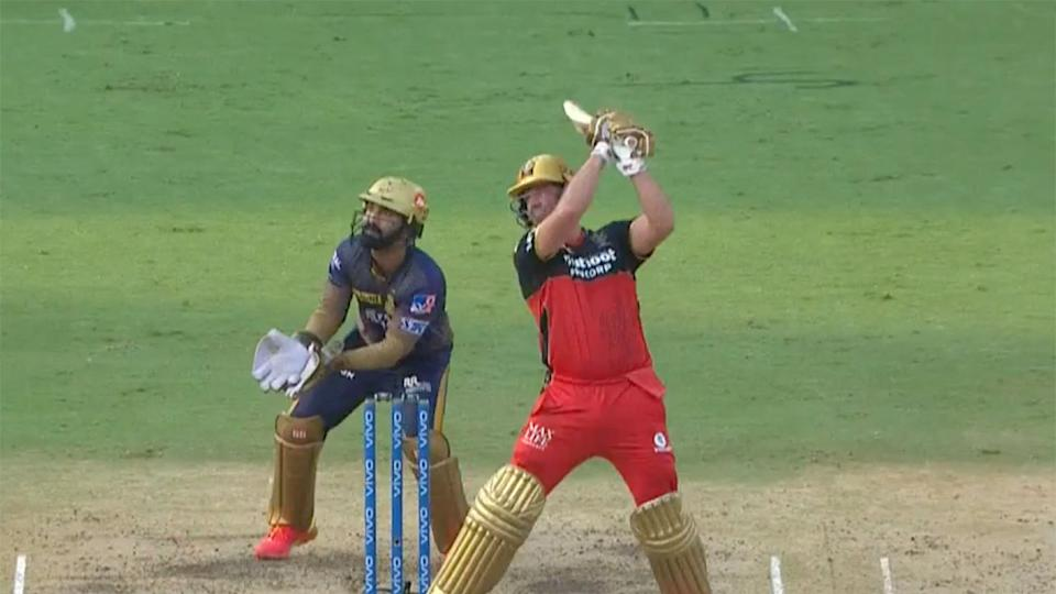 AB de Villiers was named player of the match after starring in Bangalore's win over Kolkata. Pic: IPL
