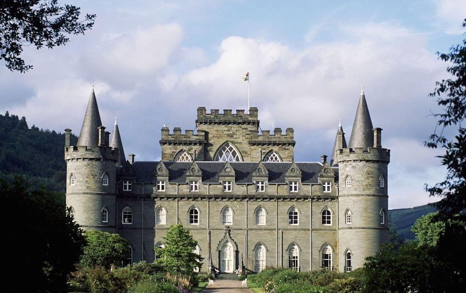 "<p>The beginnings of Inveraray Castle can be traced back to the 1400s, but its current imposing structure only came about in the 1700s, inspired by the great architect Vanbrugh. The mastermind behind Blenheim Palace and Castle Howard passed away before the first stone was laid, but his design for the castle ultimately informed its blend of Baroque, Palladian, and Gothic styles. Fans of <em>Downton Abbey </em>may recognize the palatial castle as episodes of the show were partly filmed there.</p><p><a class=""link rapid-noclick-resp"" href=""https://www.inveraray-castle.com/"" rel=""nofollow noopener"" target=""_blank"" data-ylk=""slk:Book Now"">Book Now</a></p>"