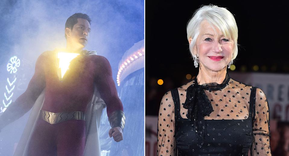 Helen Mirren will face Shazam in the upcoming superhero sequel (Warner Bros./PA)