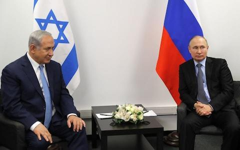 <span>Benjamin Netanyahu (left) has tried unsuccessfully to convince Vladimir Putin (right) to rein in Iran in Syria</span> <span>Credit: Photo by Mikhail Metzel\\TASS via Getty Images </span>