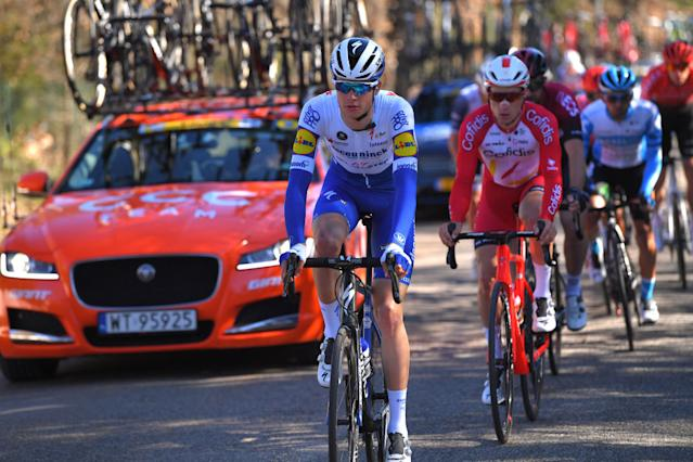 The USA's Ian Garrison made his debut with Deceuninck-QuickStep) at the our de La Provence