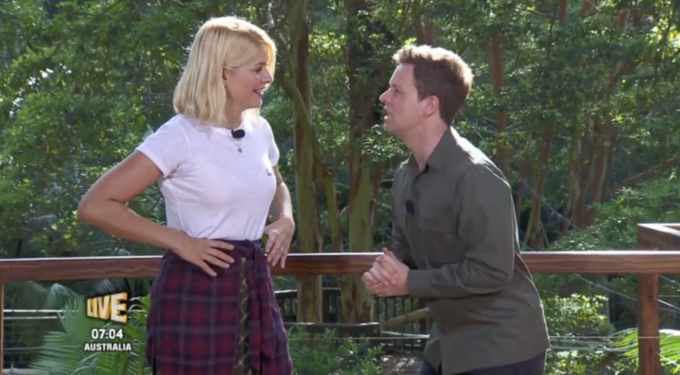 Declan Donnelly snaps at Holly Willoughby after she gets pun wrong