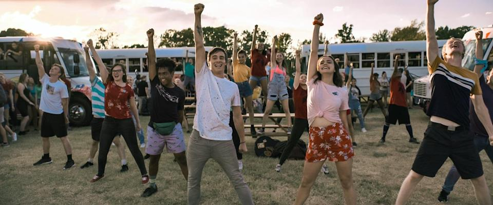 """<p><strong>A Week Away</strong> follows the story of Will (played by Kevin Quinn), who attends a summer church camp where he begins discovering himself, builds friendships along the way, and starts a romance with a girl named Avery (played by Bailee Madison).</p> <p><a href=""""https://www.netflix.com/title/81183451"""" class=""""link rapid-noclick-resp"""" rel=""""nofollow noopener"""" target=""""_blank"""" data-ylk=""""slk:Watch A Week Away on Netflix"""">Watch <strong>A Week Away</strong> on Netflix</a>.</p>"""