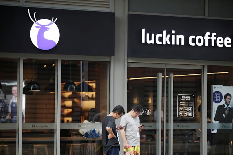 Luckin, a Starbucks rival in China, jolts higher in US debut