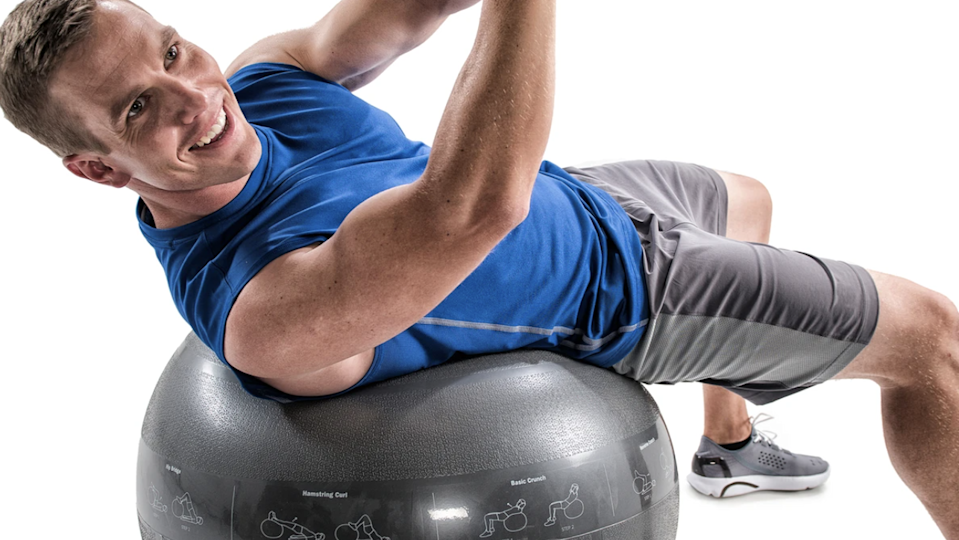 A stability ball can be used in so many different ways.