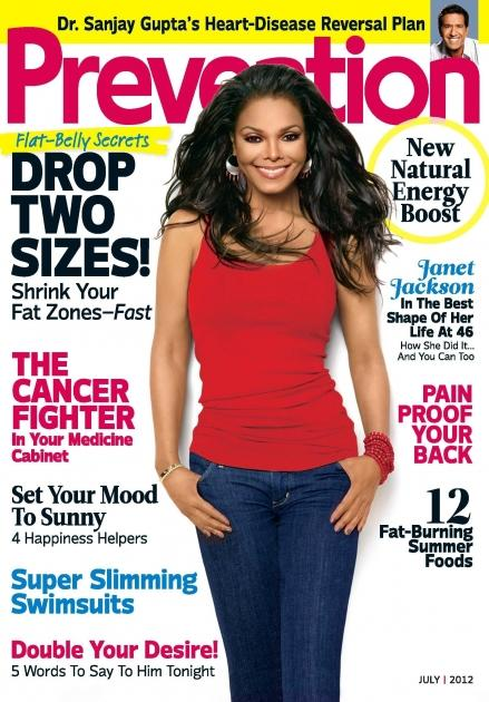 Janet Jackson on the July 2012 cover of Prevention magazine -- Prevention Magazine
