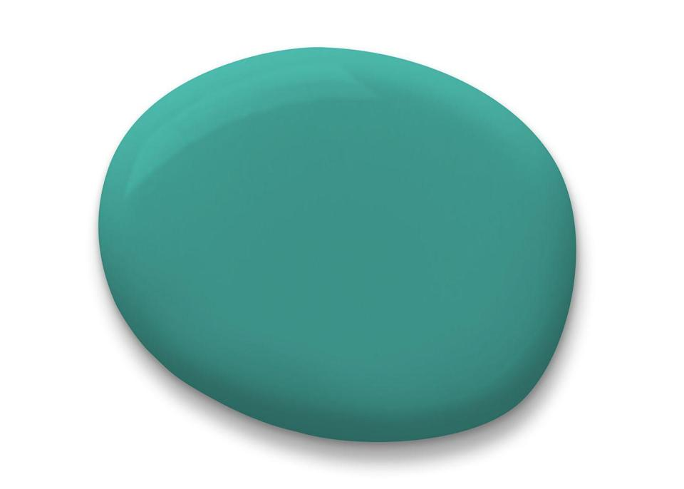 """<p>""""Turquoise is one of those colors that evokes mood enhancing good vibes,"""" designer <a href=""""http://www.michelsmithboyd.com"""" rel=""""nofollow noopener"""" target=""""_blank"""" data-ylk=""""slk:Michel Smith Boyd"""" class=""""link rapid-noclick-resp"""">Michel Smith Boyd</a> says. Pictured here is his favorite shade, 6941<em>,</em> from <a href=""""https://www.sherwin-williams.com"""" rel=""""nofollow noopener"""" target=""""_blank"""" data-ylk=""""slk:Sherwin Williams"""" class=""""link rapid-noclick-resp"""">Sherwin Williams</a>. </p>"""
