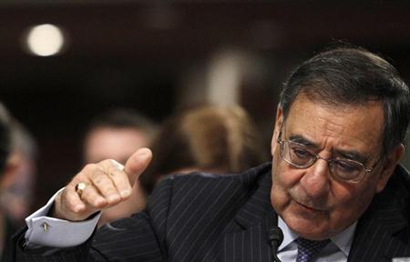 US Secretary of Defense Leon Panetta testifies in Washington on the Defense Department's response to the attacks on US facilities in Benghazi